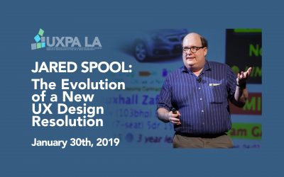 2019: 01/30/19 – Jared Spool: The Evolution Of A New UX Design Resolution